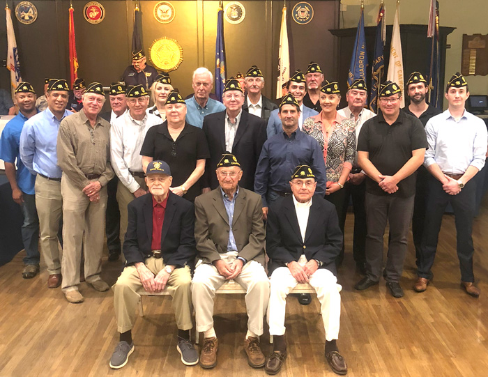 New Inductees AL 291 General Meeting - November 14, 2018